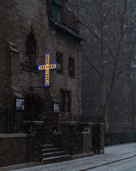 Chelsea (joe holmes) Tags: snow jesus chelsea nyc church