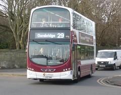 Lothian 1026 at Comely Bank, Edinburgh. (calderwoodroy) Tags: eclipsegemini2 wrightbus b9tl volvo lxz5411 1026 service29 edinburghtransport transportforedinburgh lothianbuses lothianbusescentenary lothian100 lothian creweroadsouth doubledecker bus comelybank edinburgh scotland