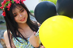 IMG_2755 (Sharmila Padilla) Tags: flowers lady canon portrait ladies balloon outside play pinkflowers pink photography street modes happy joy smile pretty sports white road makeup
