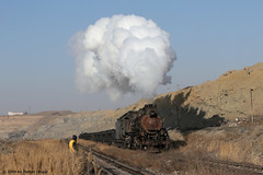 I_B_IMG_1750 (florian_grupp) Tags: asia china steam train railway railroad sandaoling xinjiang muslim desert landscape js ore mine 282 mikado steamlocomotive locomotive opencastmine