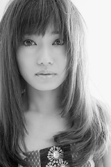 Portrait in studio / Miho (HarQ Photography) Tags: monochrome blackandwhite portrait model sony a900 studio sigma 50mmf14