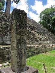 Copan Stela (tom_2014) Tags: stela maya mayan mayanstela mesoamerica carving stone art mayanart stonework temple mayantemple honduras copan copanruinas unesco worldheritage worldheritagesite travel landmark famous centralamerica archaeology
