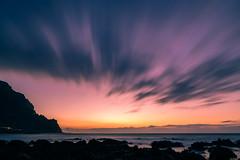 Flow of time (Rico the noob) Tags: 2018 rock d850 landscape sunset 20mm water outdoor stones clouds longexposure beach ocean published dof sky rocks tenerife coast teneriffa 20mmf18 nature sea