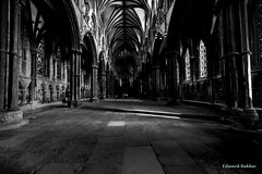 Sacred shadows (Ed. Bakker) Tags: mysterious mystical shadows interior cathedral blackandwhite monochrome