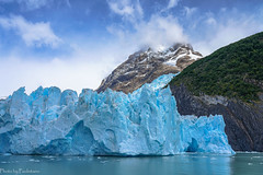 The Spegazzini glacier / У ледника Спегаццини (Vladimir Zhdanov) Tags: travel argentina patagonia andes spegazzini glacier lagoargentino lake nature landscape water mountains mountainside sky cloud tree forest ice