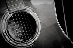 Guitar Body (pskyler13) Tags: guitar music bw black white strings instrument ibanez