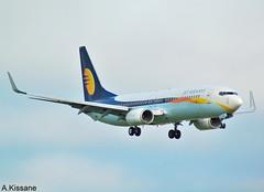 JET AIRWAYS B737 VT-JGF (Adrian.Kissane) Tags: 29639 vtjgf 1932019 jetaw b737 shannon