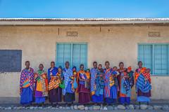 Rainbow (u c c r o w) Tags: maasai arusha tanzania portrait africa babu children women colors colorful blue sky red orange yellow beautiful ngc