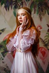 polina (Melodyphoto3) Tags: photo photography art artphoto fineart vintage dress portrait woman model canon canon50 canon85 pearl flower