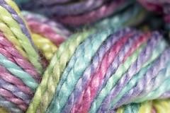 Rainbow of pastels (me.behindthelens) Tags: macromondays pastels embroidery sewing craft thread rainbow pastel upclose macro