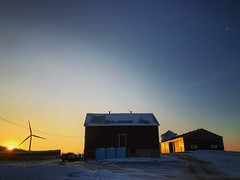 Sun sets after a long day (jessalynn_sammons) Tags: evening twilight light sunset farm barn