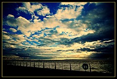 Evening sky over the River Mersey (ronramstew) Tags: evening sky cloud river mersey liverpool merseyside
