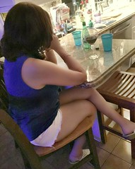 lots of drinking (lyndawaybi3) Tags: hot sexy mature married wife mom milf shared hotwife lynda daisy dukes white short shorts legs feet drinking red wine anklet ankle bracelet