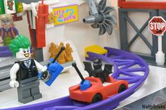 The Joker RC Car Test Drive (WattyBricks) Tags: lego dc comics superheroes the joker harley quinn batman gotham rogues gallery minifigures