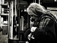 Messages (Bury Gardener) Tags: monochrome mono burystedmunds bw blackandwhite britain nikond7200 nikon england eastanglia uk people peoplewatching folks suffolk streetphotography street streetcandids snaps strangers candid candids 2019 abbeygatestreet