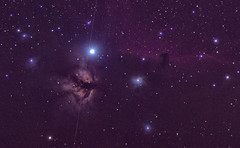 Satellite Piercing the Flame Nebula (Phil Ostroff) Tags: satellite flame horsehead nebula astronomy astrophotography