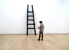 Ladder (YIP2) Tags: voorlinden museum retrospective exhibition modernart armando painting art watchers watching wassenaar candid ladder dieleiter damals