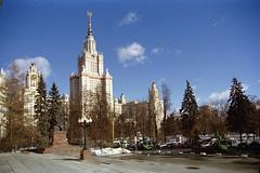 Lomonosov Moscow State University (stepanov9) Tags: 24105mmf4dgoshsm|af minoltadimagescanelite5400 nikon nikonf80 sigma negativfilm building moscow russia россия city