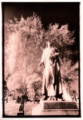 heard a voice (Isosceles Diego) Tags: lith infrared kodakhie canonftb cemetery grave