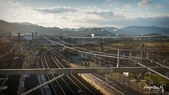 2019#12 (Augustinwee Photography) Tags: singapore sg sunset train trainstation kyoto japan arashiyama hightensioncable electricalcable traintrack village outdoors winter coulds