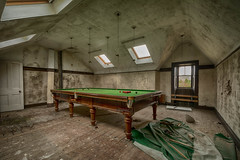 Abandoned mansion (Alec-Gibson) Tags: abandoned atrisk derelict disused decay dangerousbuilding keepout mansion house snookertable urbex urbanexploration explore exploring scotland d7100 nikon hdr