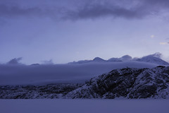 Fog and mountain in Alaska (Yu Takada) Tags: fog foggy mountain alaska winter white snow lake