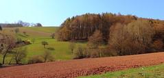 Krombach Landschaft (wernerfunk) Tags: franken landscape felder wald