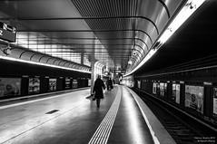 Austria_Vienna_Subway Station-8340 (Man-Zhi) Tags: vienna viennaatnight viennacitynightview australia city subway subwaystation subwayatnight blackwhite architecture people train trainstation