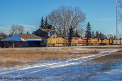 Where are we? (Going Trackside Photography) Tags: canadian pacific railway canada alberta train oil up union kcs kansas city southern cp cpr rail station okotoks tree bluesky sky blue