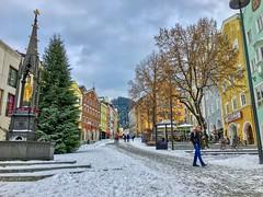 Winter impressions from Kufstein, Tyrol, Austria (UweBKK (α 77 on )) Tags: winter impressions city urban market road tree fountain well kufstein tyrol tirol austria europe europa iphone österreich
