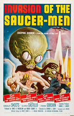 I napped and had a nightmarish dream. I had top billing in a 1950's B-rated sci-fi film. I was running from a Saucer Man. It was diabolical. (Fotofricassee) Tags: saucer men horror monster scifi