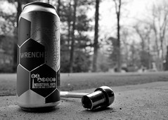 Pass me the wrench (018/365) (robjvale) Tags: 365the2019edition 3652019 day18365 18jan19 nikon d3200 project365 beer ipa wrench tool blackwhite bw monochrome