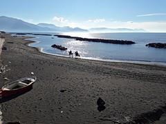 mattinata (Adele Scognamiglio) Tags: mare sea cavaliere horseman luce light spiaggia beach napoli neaples campania italia italy torredelgreco