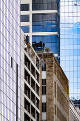 (jfre81) Tags: houston downtown urban city towers building skyscraper roof garden windows diagonal vertical cluster glass steel brick
