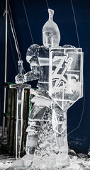 Ice Knight (scattered1) Tags: zehnders mi winter icesculpture snowfest carved zehnderssnowfest2019 cold sculpture frankenmuth shield carve armor sword helmet sculpt snow michigan ice