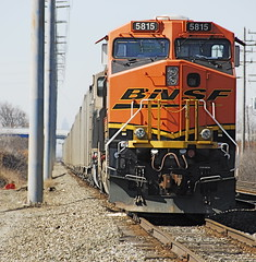 BNSF # 5815 with a coal train. (THE RESTLESS RAILFAN) Tags: