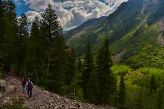 La Gloire (kirstenscamera) Tags: colorado aspen maroonbells summer outside outdoors nikon d810 hikers sky clouds hike path trail nature landscape
