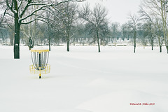 DSE_6484 (pezlud) Tags: 20190223 snow winter winterscenes trollwoodpark fargo nd usa landscape white mantleofwhite seaofwhite dashesofcolor color nodiscgolftoday