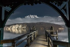 Ouverture classique (paul.porral) Tags: flickr ngc paysage paisaje landscape landschaft outside countryside alps lake lacannecy winter snow hiver naturephotography poselongue longexposure fog clouds sky cielo