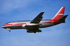 N326AU USAir 737-2B7 at KCLE (GeorgeM757) Tags: usair 7372b7 n282au hsaku georgem757 kcle aircraft aviation airplane airport boeing landing 737 predigital