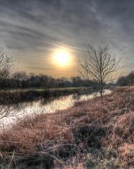 IMG_0695_6_7HDR_Werre (HDRforEver) Tags: hdr photomatix karstenhöltkemeier new interesting m50 eosm50 canon landscape landschaft river fluss sunset sonnenuntergang sky plant water