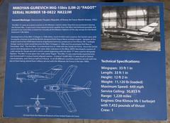 Mikoyan-Gurevich MiG-15bis (LIM-2) 'Fagot' Sign (Serendigity) Tags: arizona pimaairspacemuseum tucson usa unitedstates aircraft aviation hangar indoors museum unitedstatesofamerica