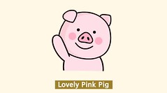 Lovely Pink Pig (a.n.n.a.pig) Tags: character pig pinkpig sticker cutiecharacter line linecharacter