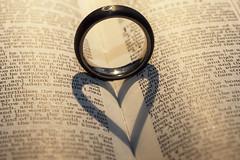 Love Hard Light (me.behindthelens) Tags: macromonday hardlight heart ring bible shadow