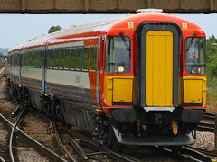 2401, Gatwick Airport, July 14th 2009 (Southsea_Matt) Tags: 2401 442401 class442 gatwickexpress goahead govia brel emu electricmultipleunit wessexelectric plasticpig gatwickairport sussex england unitedkingdom train railway railroad canon 30d july 2009 summer vehicle transport