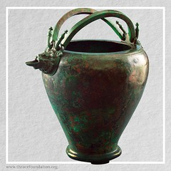 Ancient bronze stamnoid situla from the Vassil Bojkov Collection (thracefoundation) Tags: ancient art vassilbojkovcollection mythology thrace ancienthistory artifact artefact history thracefoundation ancientgreece situla