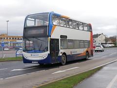 Stagecoach ADL Trident Alexander Dennis Enviro 400 AE07KZM 19310 operating service 7 to Asda & Bus Depot at Glenrothes on 20 February 2019. (Robin Dickson 1) Tags: edinburghandfifebuses ae07kzm stagecoachcambridge stagecoach dennistrident2 adlenviro400