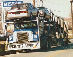 IH Fleetstar: ARCO Carriers #LD383 (PAcarhauler) Tags: carcarrier truck trailer ih mack dodge mopar