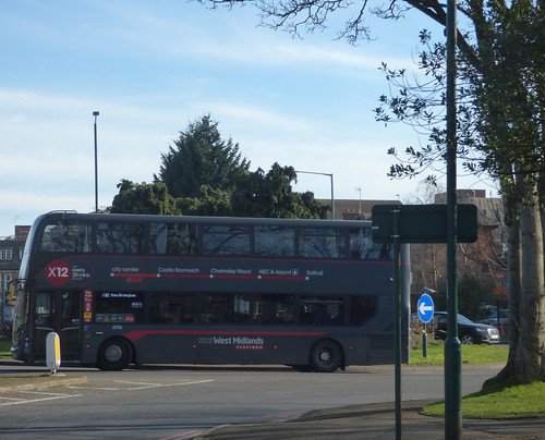 The X12 NXWM Platinum bus in Solihull Town Centre