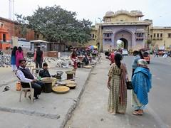 jaipur 2019 (gerben more) Tags: jaipur gate pigeon arch architecture people streetscene streetlife street palace